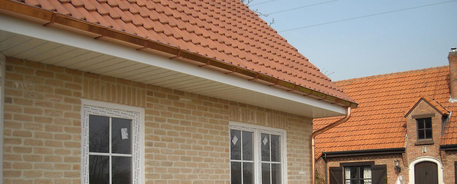 Roofix koperen dakgoten